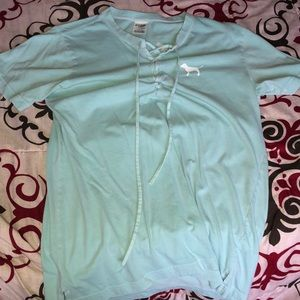 Pink Victoria's Secret blue top